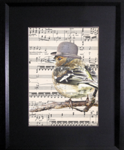 Songbird on Vintage Sheet Music