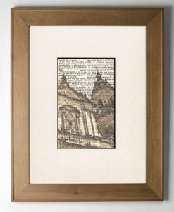 Church on bible page print