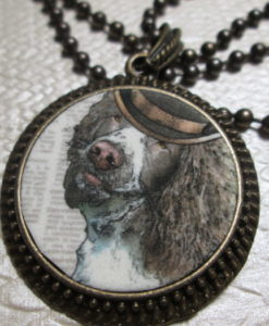 steampunk dog pendant