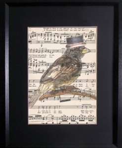 SongBird on Vintage Music Sheet