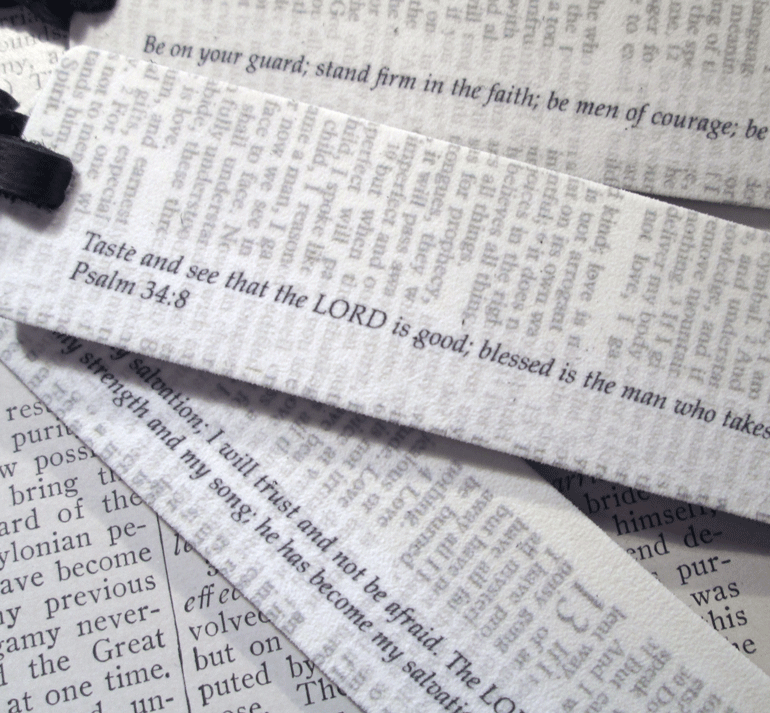 Bible Bookmark Group - Back View