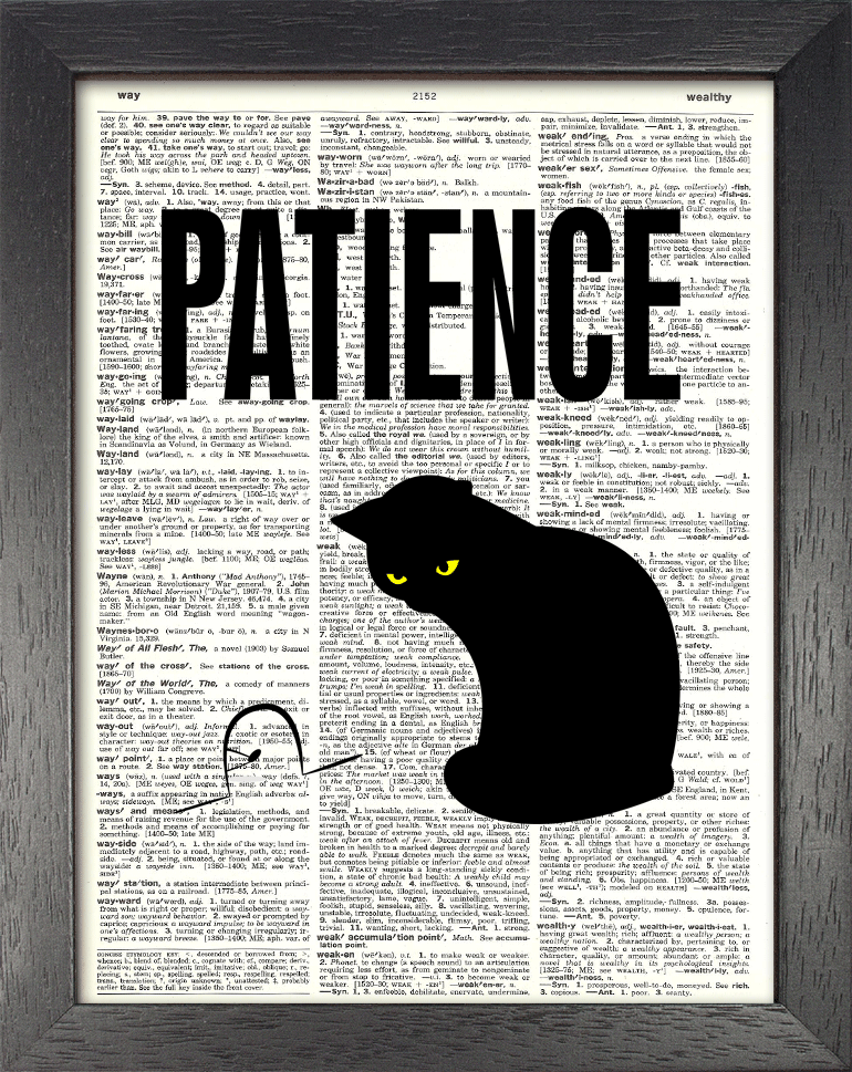 Dictionary Page Print - Patience