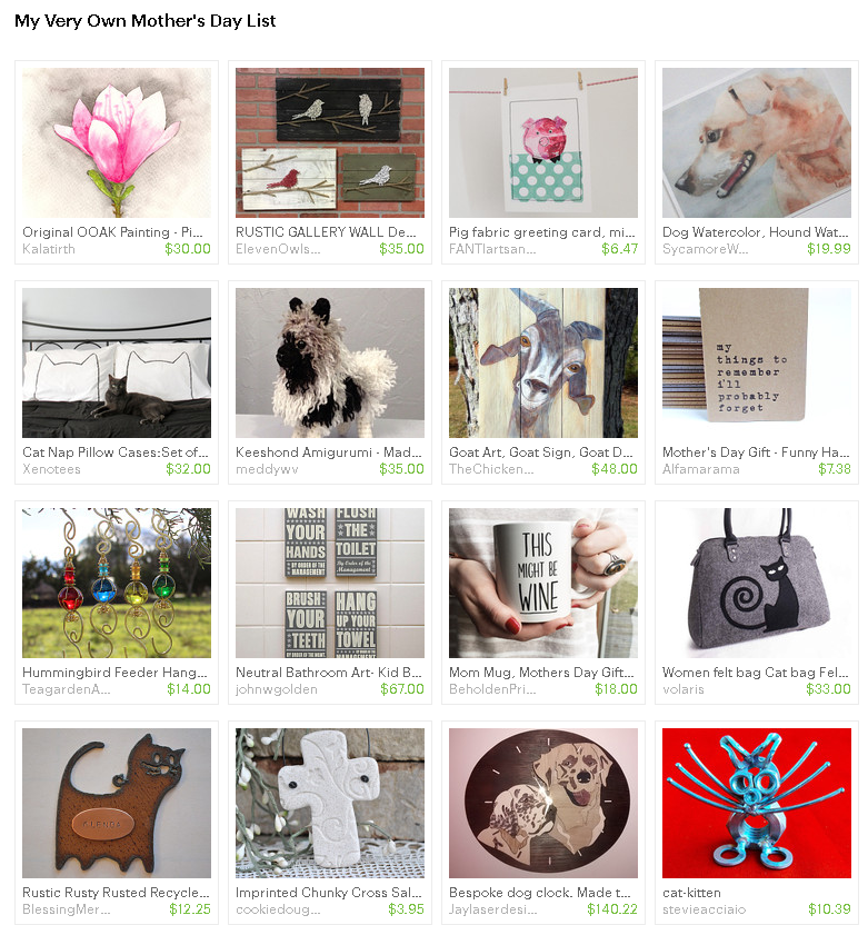 Laughing Cat Etsy Treasury - Mother's Day